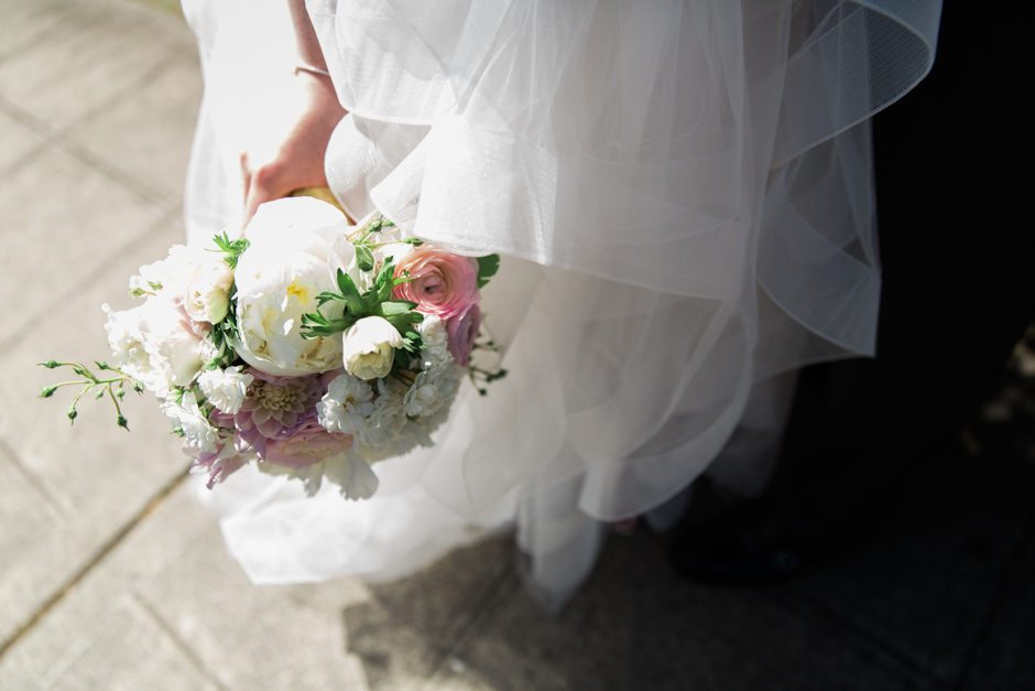 Bride's bouquet at Fremont Foundry wedding