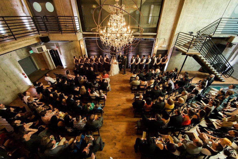 Ceremony at Fremont Foundry wedding