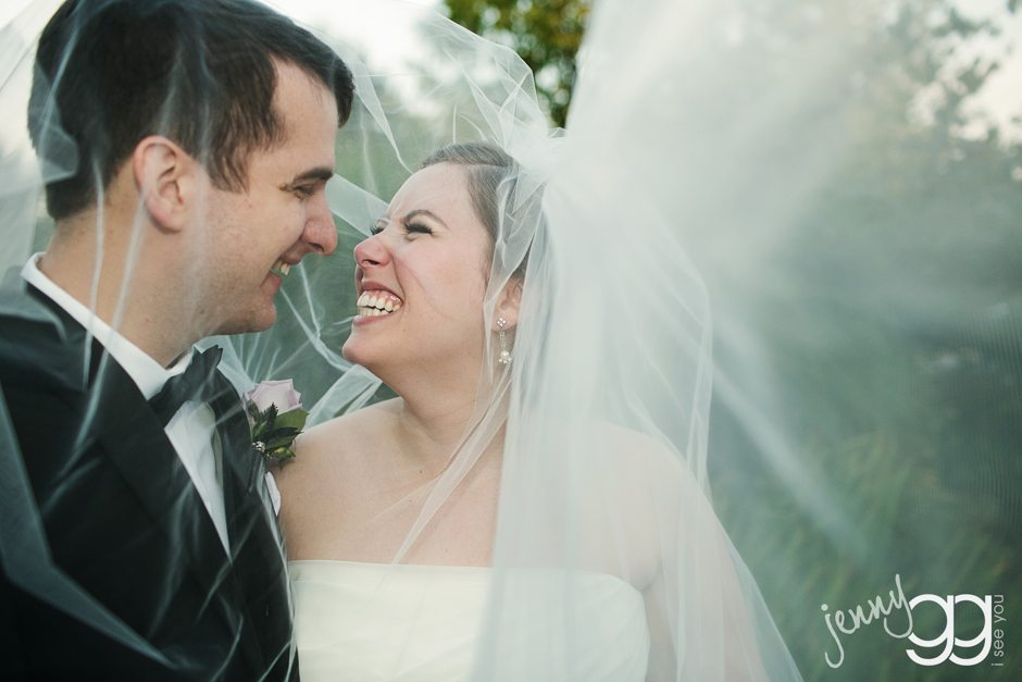 First Look - Seattle Wedding Photography by JennyGG