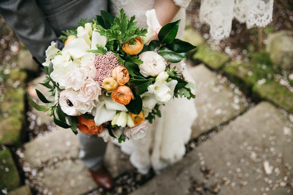 Bride's bouquet at Sodo Park Wedding