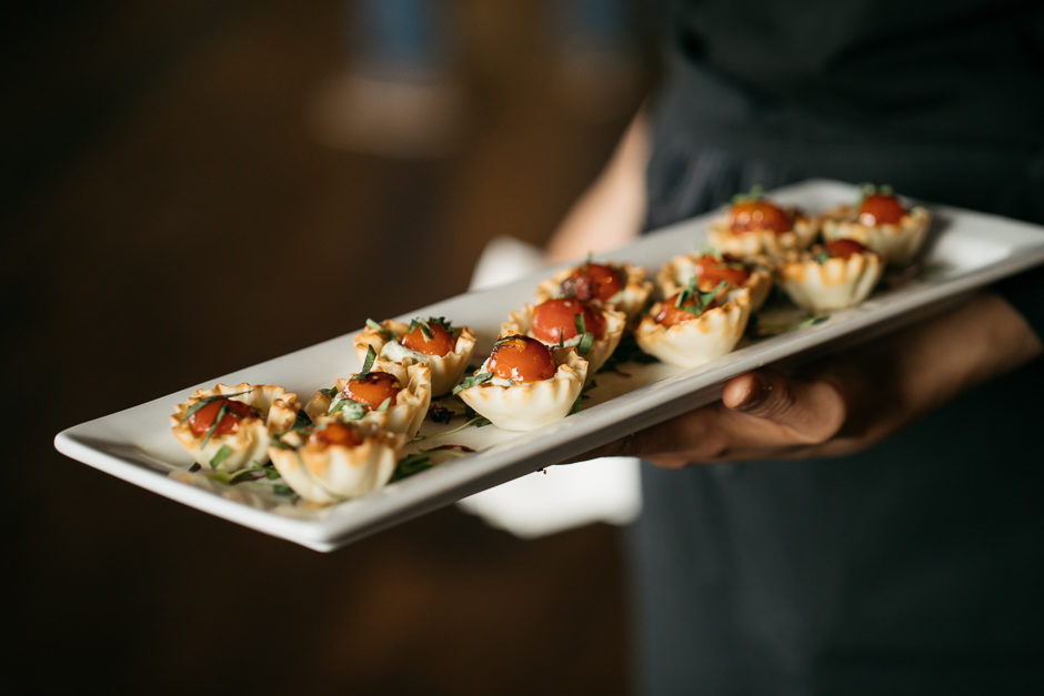 hors d'oeuvres at reception at sodo park wedding