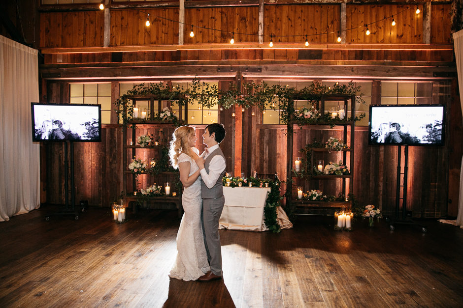 Couples first dance at sodo park weding reception