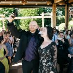 wedding ceremony at willows lodge