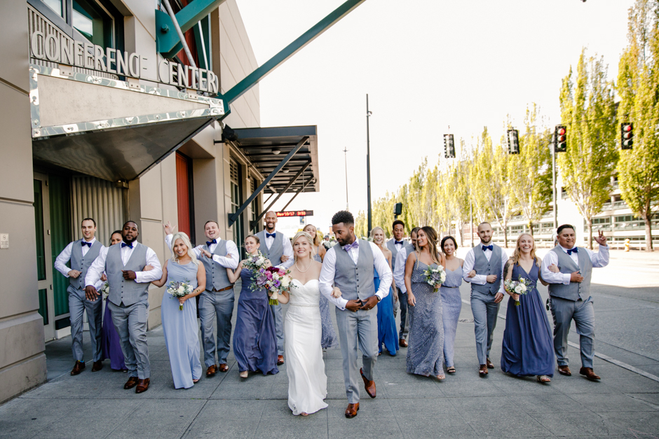 wedding party downtown seattle