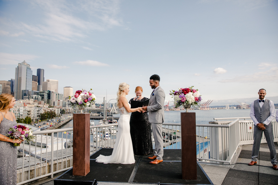 seattle rooftop waterfront ceremony