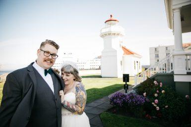 wedding at mukilteo beach by jenny gg