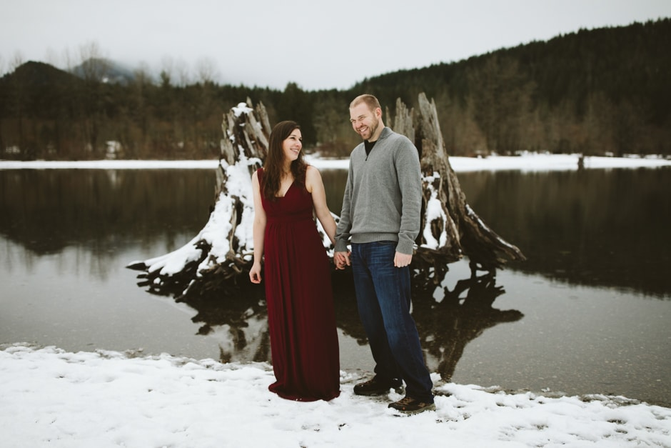 rattlesnake lake engagement snow