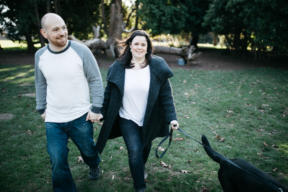 engagement photos with pet