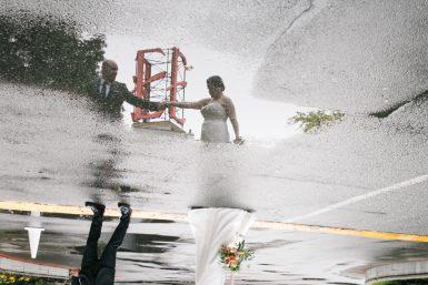 edgewater hotel wedding puddle of rain