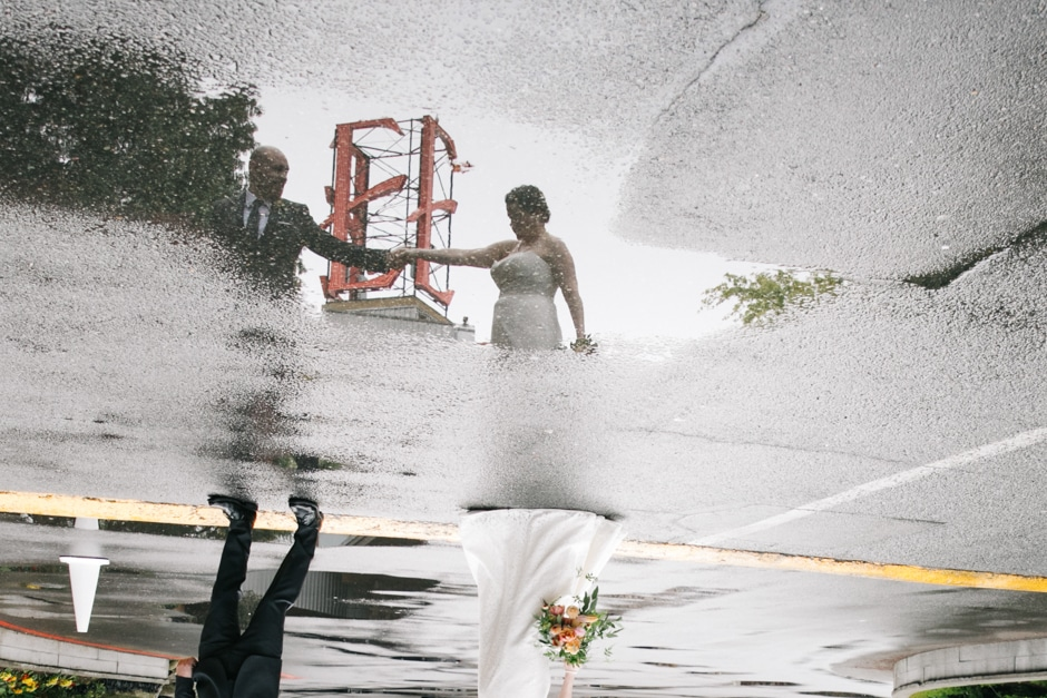 edgewater hotel wedding puddle of rain