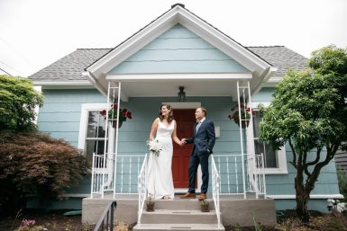 ballard wedding bride and groom