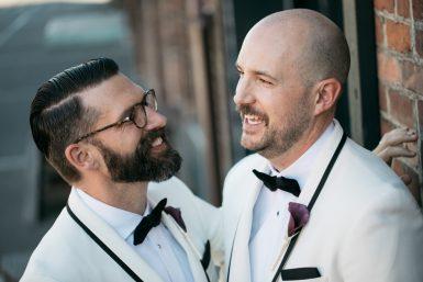 same sex wedding at georgetown ballroom