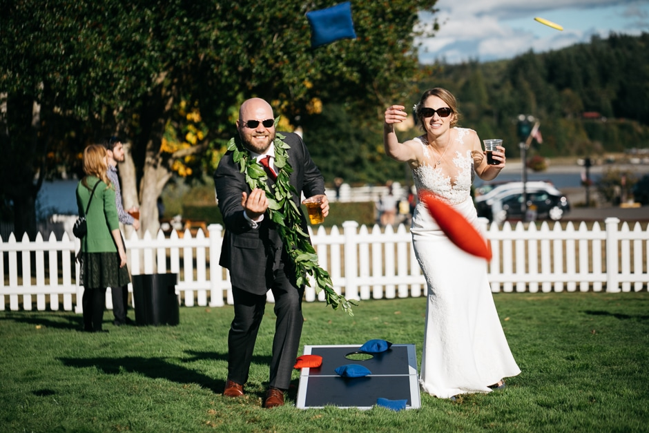 corn hole wedding game