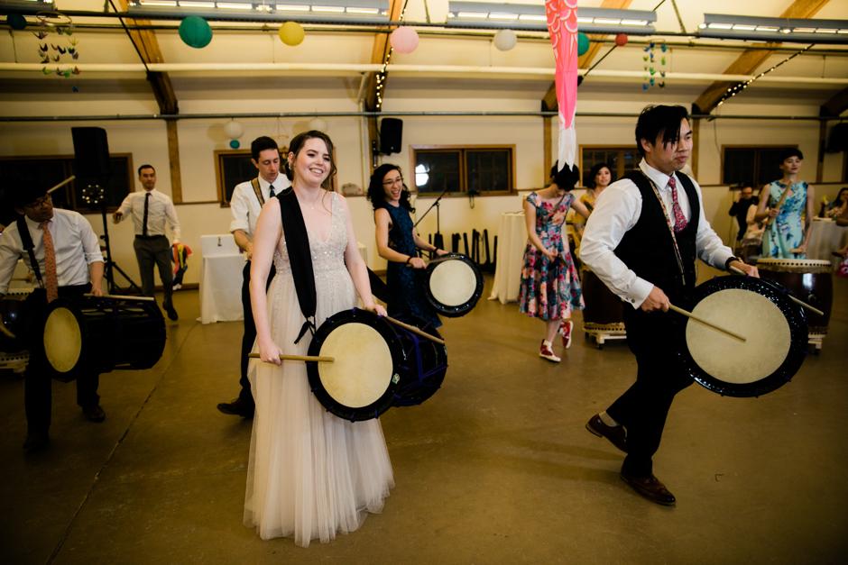 taiko drumming wedding