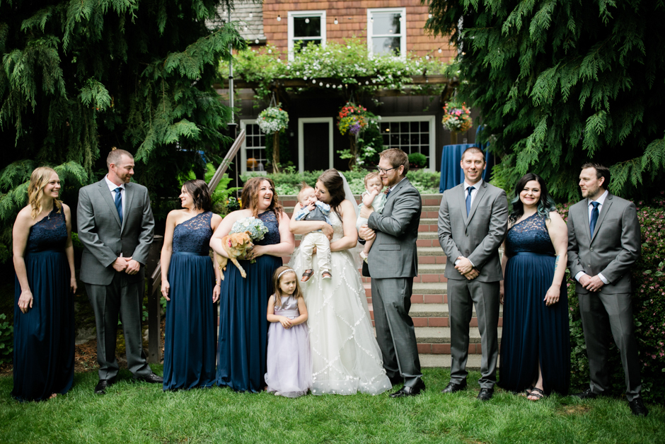 wedding party at robinswood house