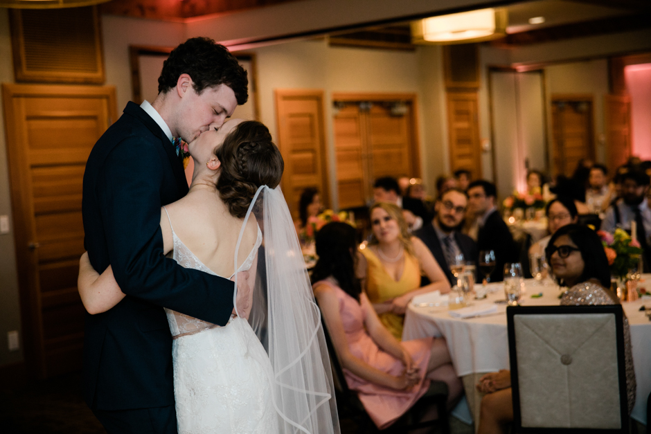 first dance at willows lodge wedding