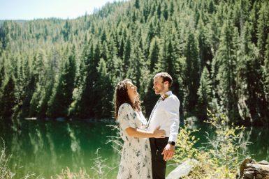 hidden lake wedding hiking