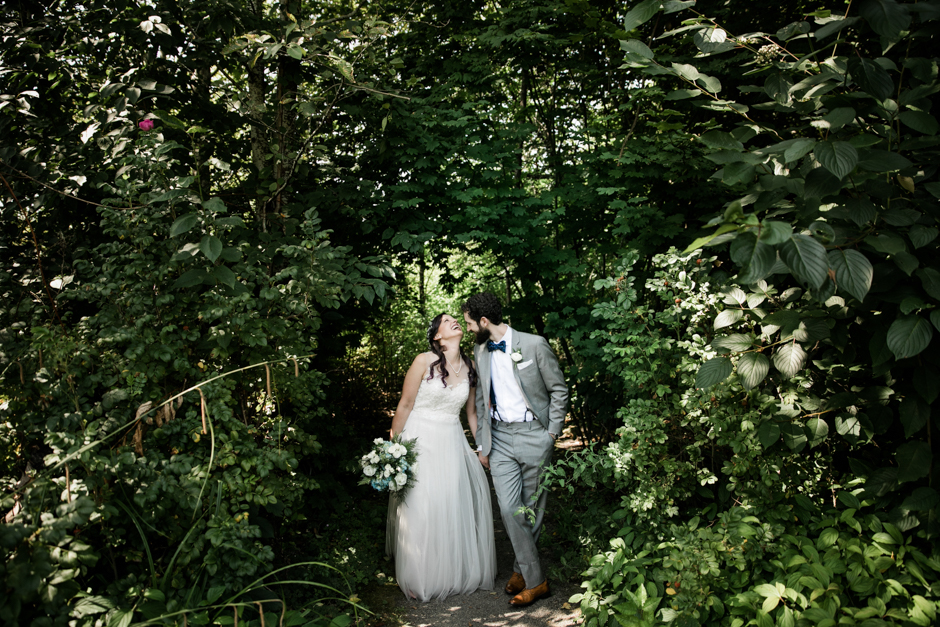 Couple outdoor at Cedarbrook Lodge wedding