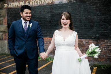 bride and groom at georgetown ballroom wedding