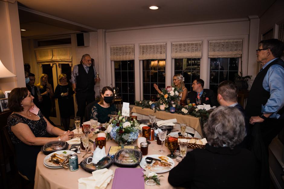 home wedding reception toasts