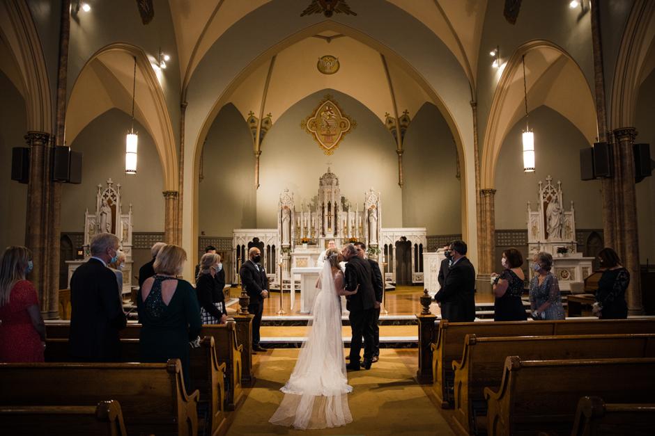 Tacoma micro wedding at church