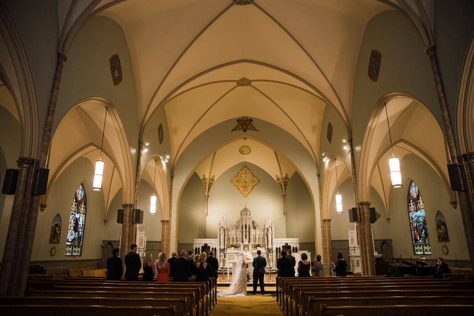 church micro wedding ceremony in Washington