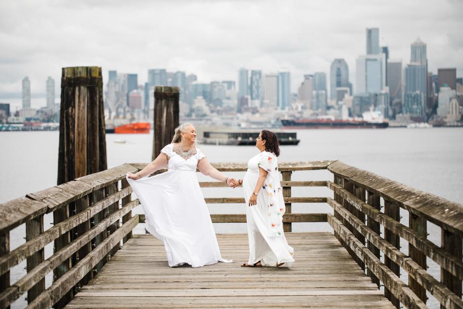 LGBT elopement in Seattle