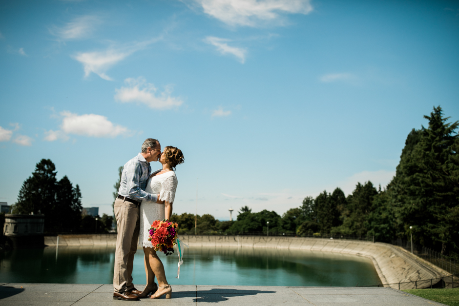 casual wedding at Volunteer Park