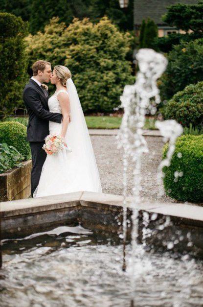Willows Lodge fountain