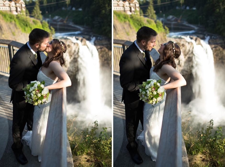 Salish Lodge waterfall elopement