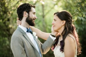 cedarbrook lodge wedding bride and groom at sunset